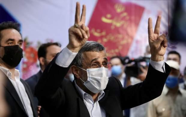 "حضور جنجالی احمدی نژاد در ستاد انتخابات  <img src=""http://cdn.jahannews.com/images/picture_icon.gif"" width=""16"" height=""13"" border=""0"" align=""top"">"