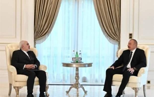 ظریف با «الهام علی اف» دیدار کرد