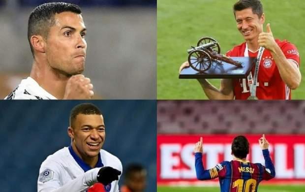 ۱۰ بازیکن برتر حال حاضر فوتبال جهان +عکس