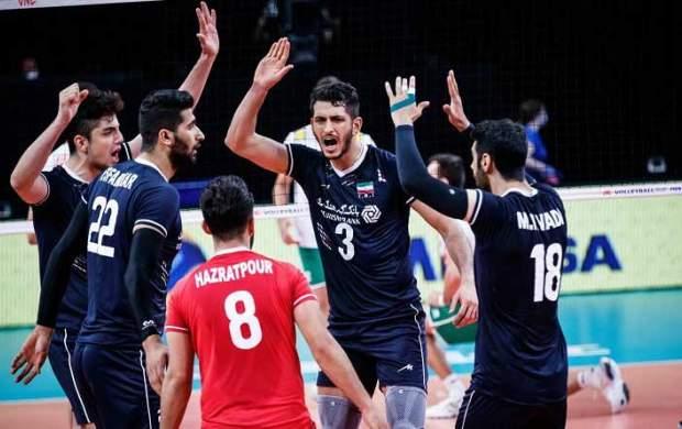 زمان پخش زنده بازی والیبال ایران و آمریکا