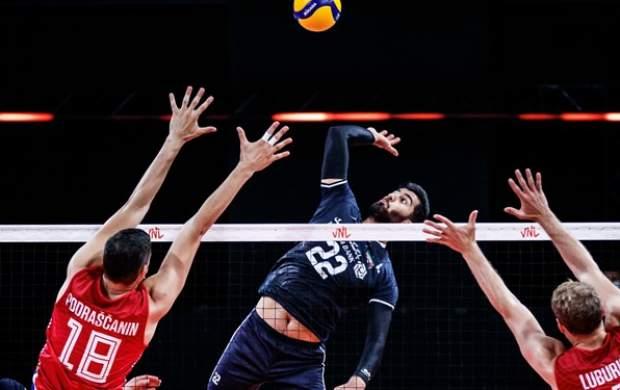 شکست والیبال ایران مقابل صربستان