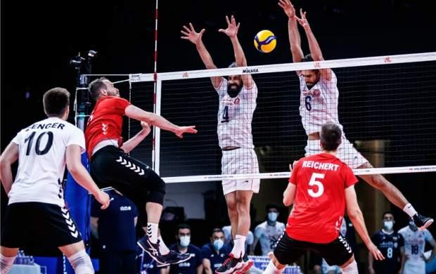 ثبت چهارمین شکست والیبال ایران مقابل آلمان