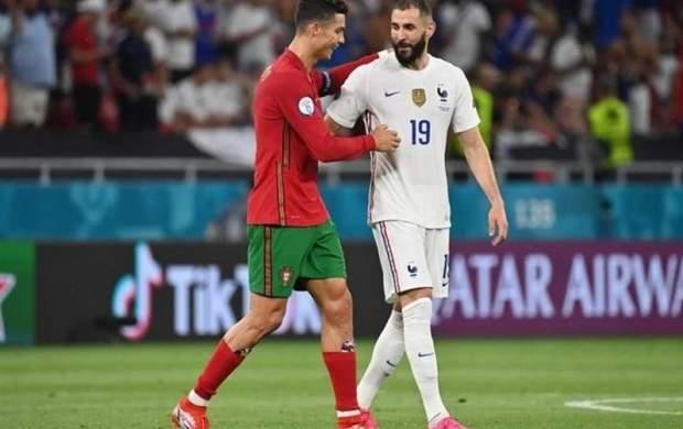 صعود فرانسه و پرتغال در شب رکوردشکنی رونالدو