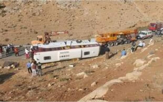 اطلاعیه پلیس راهور درباره حادثه اتوبوس