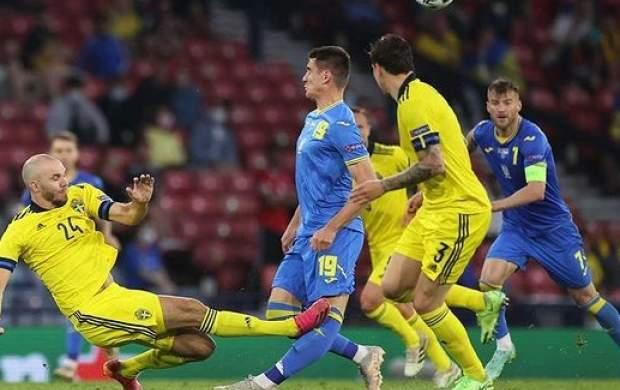 عکس/ خم شدن ساق پای بازیکن اوکراین