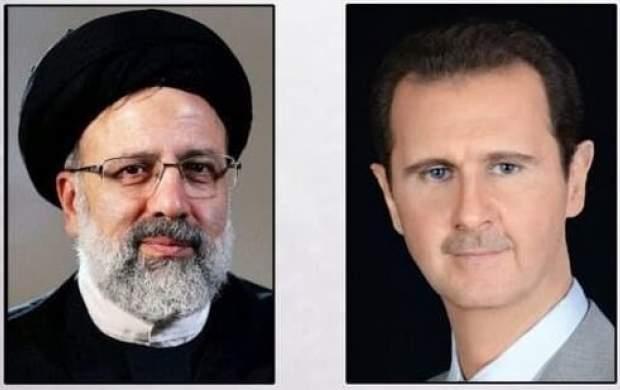 گفتوگوی تلفنی بشار اسد با ابراهیم رئیسی