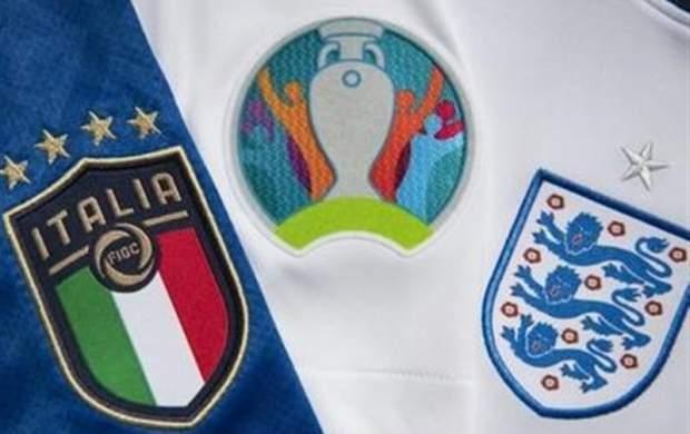 ترکیب تیمهای ملی ایتالیا و انگلیس در فینال