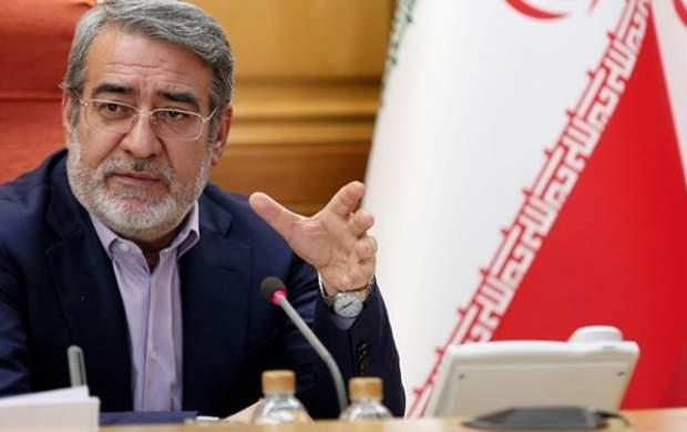 وزیرکشور پیشنهاد تعطیلی تهران و کرج را داد