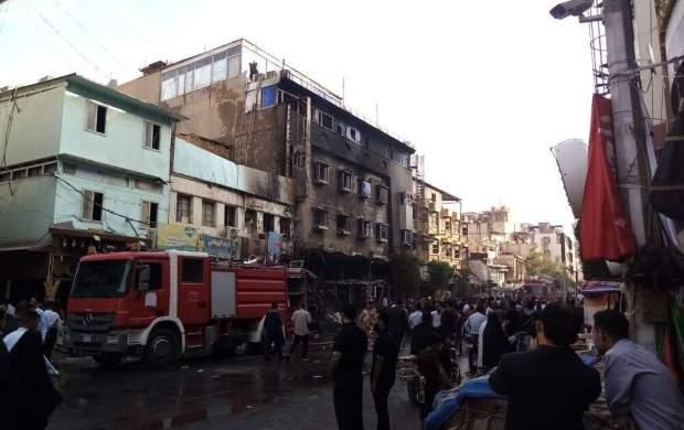 آتشسوزی مهیب در هتلی در کربلا