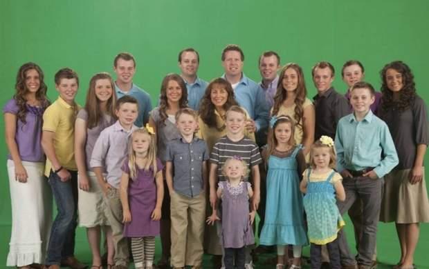 الگوسازی تلویزیون آمریکا با خانواده ۱۹ فرزندی