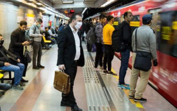 شلوغی ایستگاههای مترو در نخستین روز تعطیلی