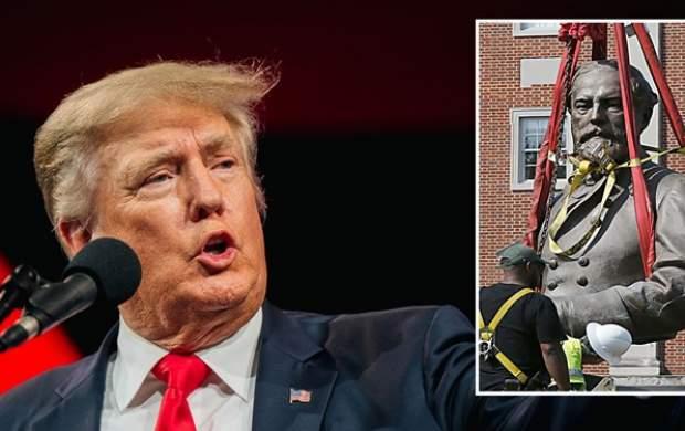 خشم ترامپ از برداشته شدن مجسمه نژادپرستی