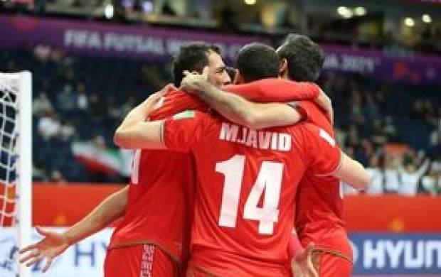 صعود فوتسال ایران به جمع ۸ تیم برتر جهان