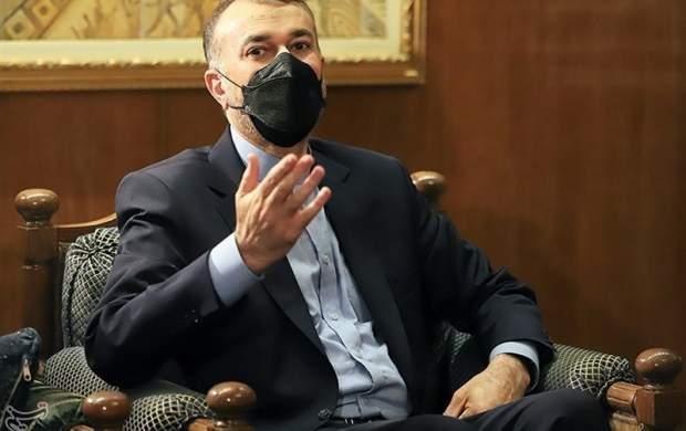 امیرعبداللهیان: برای بازگشت به مذاکره تاخیر نمیکنیم