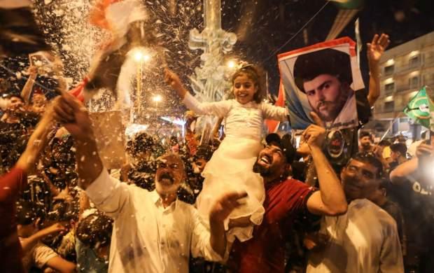 """شادی مردم عراق پس از اعلام نتایج انتخابات  <img src=""""http://cdn.jahannews.com/images/picture_icon.gif"""" width=""""16"""" height=""""13"""" border=""""0"""" align=""""top"""">"""