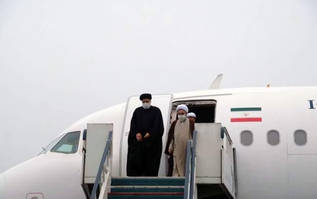 استقبال از رئیسی در فرودگاه شیراز +فیلم