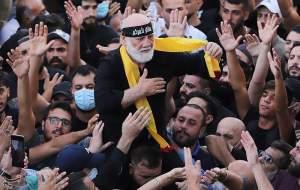 تشییع باشکوه شهدای حادثه بیروت