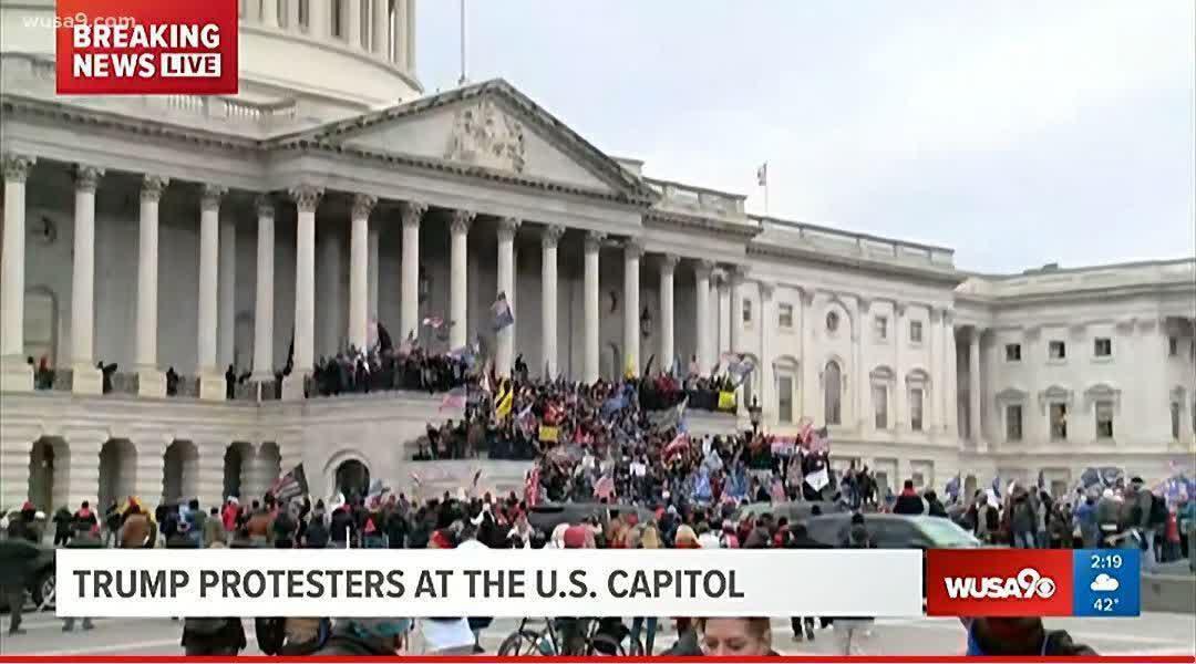 هواداران ترامپ با شکستن سد نیروهای امنیتی وارد بالکن کنگره آمریکا